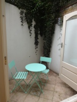 My FAVORITE part of the flat - and the reason we went with a garden level flat! PRIVATE PATIO!