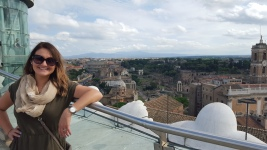 The view from the top was unbelievable - can you see the Colosseum behind me? :)