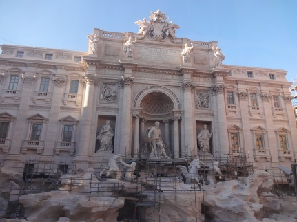 Trevi Fountain - Unfortunately it was under restoration, so the water wasn't on. :(