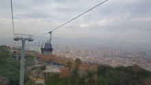 Cable car ride up to Montjuïc Castle
