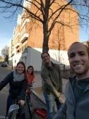 Boris biking through the city!