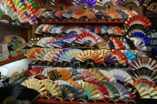 beautiful paper fan shop