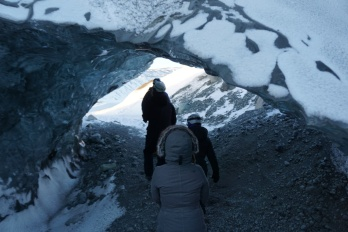 """""""hike"""" to the cave"""