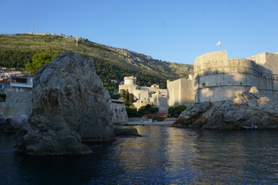Just before sunset arriving back into old town Dubrovnik