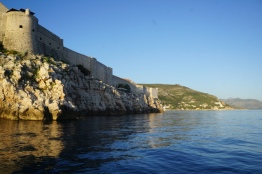 Just before sunset arriving back at old town Dubrovnik