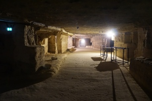 Château Franc Mayne - aging in the underground quarries