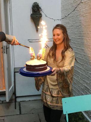sparkler candles!